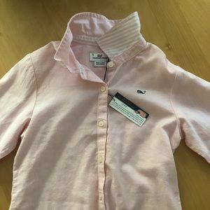 🐳 Vineyard Vines pink Oxford shirt